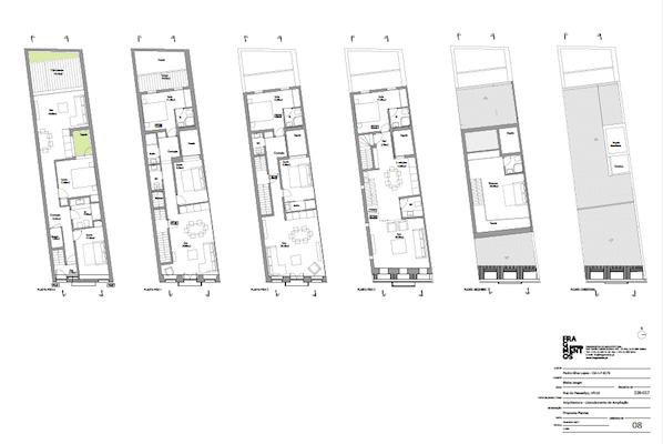 crowdfunding immobilier à Lisbonne plans appartements rénovation Immeuble rénovation