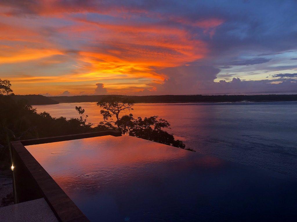 centre de plongée Warnakali coucher de soleil sunset Nusa Penida