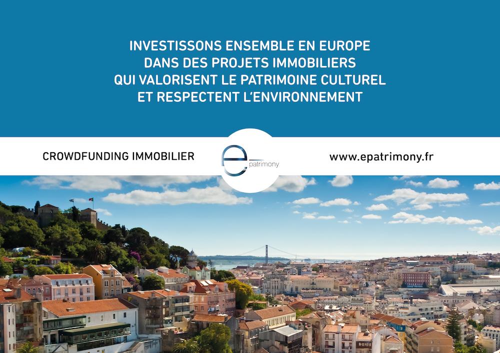 Epatrimony salon patrimoine culturel plateforme crowdfunding immobilier financement participatif