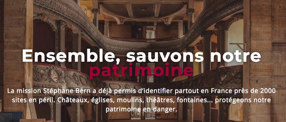 Mission Bern patrimoine culturel Epatrimony plateforme financement participatif